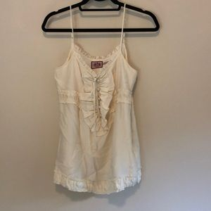 JUICY 💯% silk top camisole cream ivory size 6
